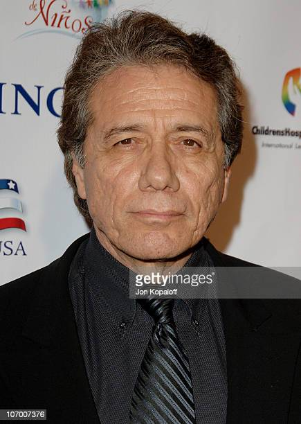 Edward James Olmos during Childrens Hospital Los Angeles 2nd Noche de Ninos Gala Honoring Johnny Depp Arrivals at Beverly Hilton Hotel in Beverly...