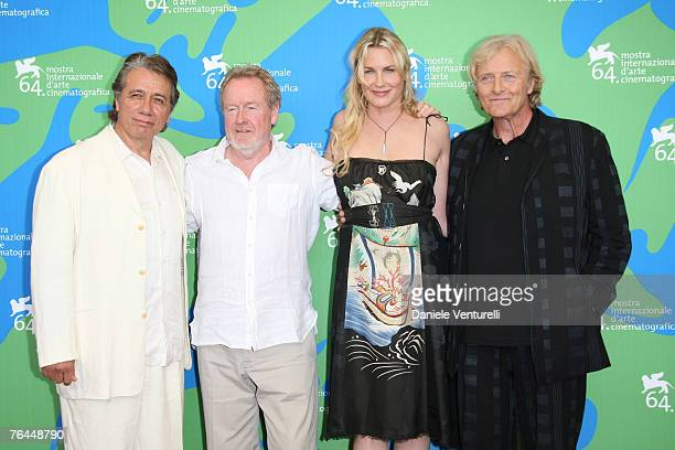 Edward James Olmos Ridley Scott director Daryl Hannah and Rutger Hauer attend the Blade Runner photocall in Venice during day 4 of the 64th Venice...