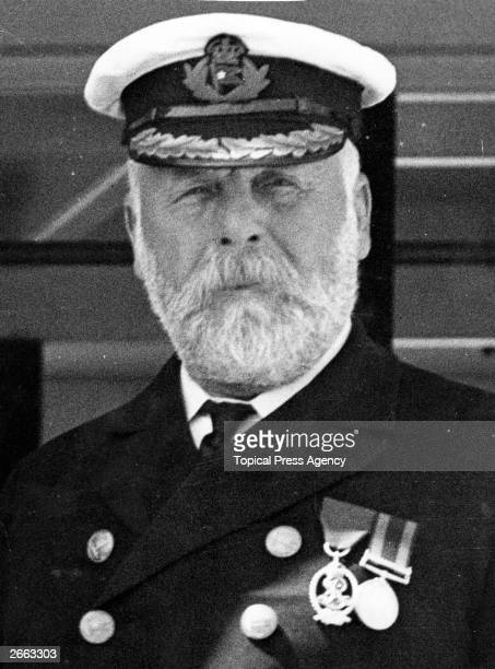 Edward John Smith captain of the White Star liner 'Olympic' 9th June 1911 He later became captain of the illfated 'Titanic'