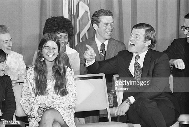 Edward Kennedy Thanking His Campaign Workers