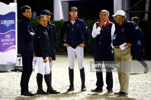 Edward LEVY Kevin STAUT Olivier ROBERT of France Philippe GUERDAT of Switzerland Henry PRUDENT of France and Penelope LEPREVOST of France during the...