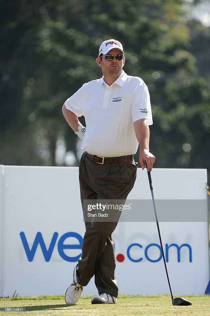 Edward Loar plays the 17th hole during the third round of the Colombia Championship at Country Club de Bogota on March 2, 2013 in Bogota, Colombia.