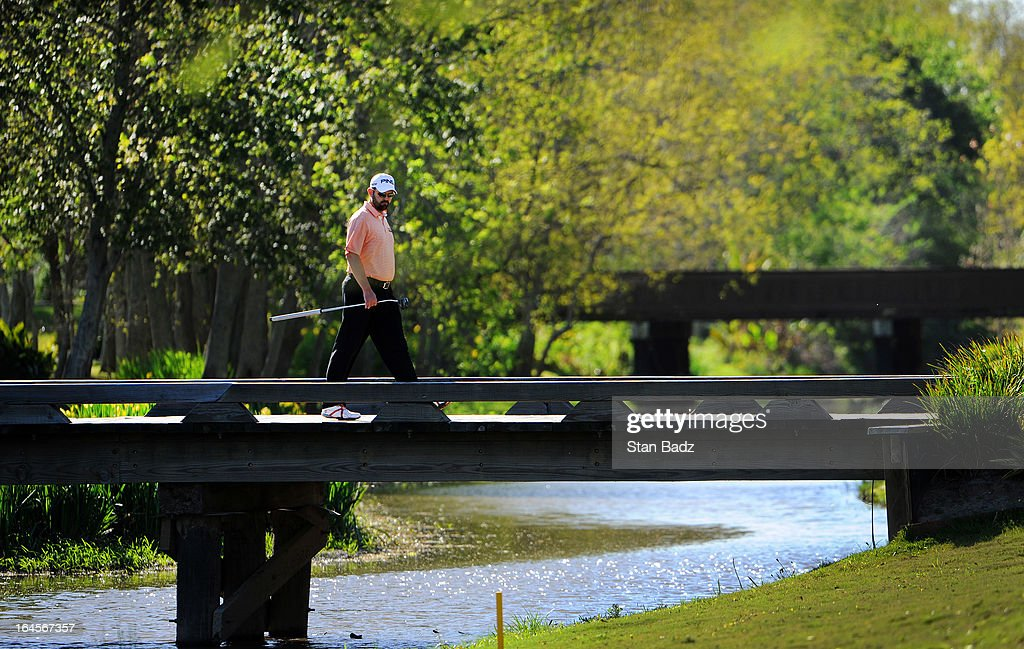 Edward Loar walks to the 15th hole during the final round of the Chitimacha Louisiana Open at Le Triomphe Country Club on March 24, 2013 in Broussard, Louisiana.