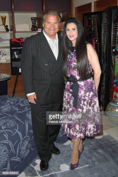 Edward Lozzi and Barbara Lazaroff attend FRETTE Beverly Hills Designer Event at FRETTE on September 10 2009 in Beverly Hills California