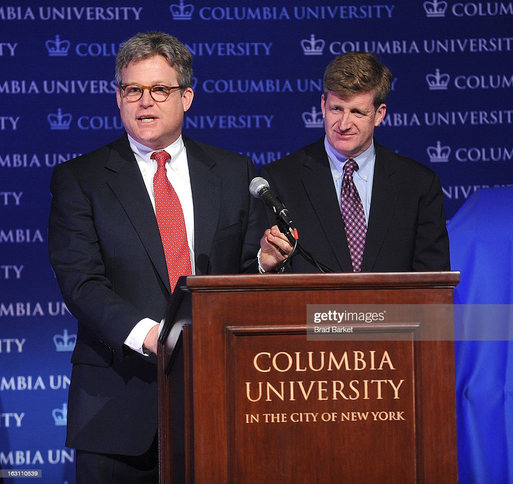Edward M. Kennedy Jr. and Patrick Kennedy. attends the 2013 Edward M. Kennedy Prize For Drama Award Reception at Columbia University on March 4, 2013 in New York City.