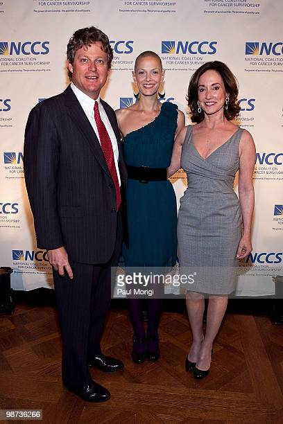 Edward M Kennedy Jr Sharon Blynn and Lilly Tartikoff arrive at the 2010 NCCS Rays of Hope awards gala at the Andrew W Mellon Auditorium on April 28...