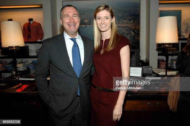 Edward Menicheschi and Alexandra Reeve Givens attend FACONNABLE VANITY FAIR Shopping Night for the Christopher Reeve Dana Reeve Foundation at...
