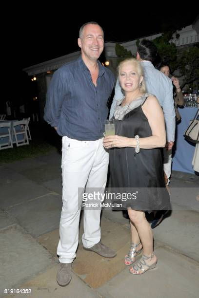 Edward Menicheschi and Liz Darringer attend THE CINEMA SOCIETY with VANITY FAIR HUGO BOSS host the after party for 'DINNER FOR SCHMUCKS' at Private...