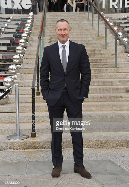 Edward Menicheschi publisher of Vanity Fair attends the Vanity Fair party during the 10th annual Tribeca Film Festival at State Supreme Courthouse on...