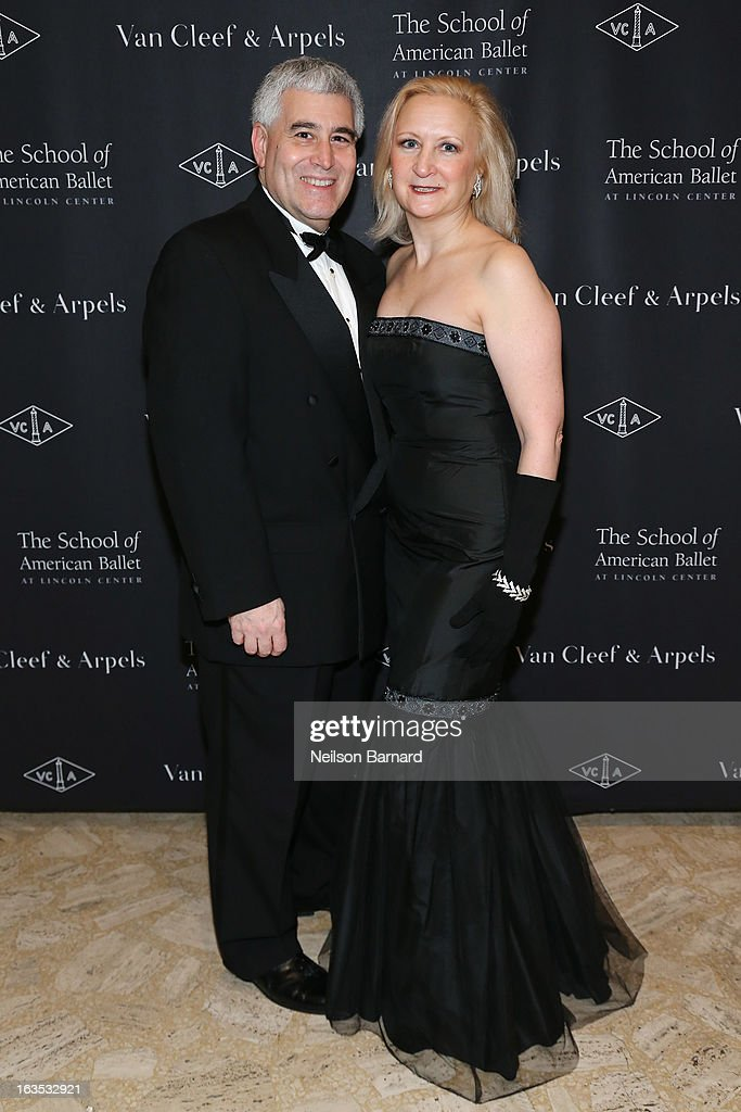 Edward Nesta (L) and Debra Argen attend the after party for the School of American Ballet 2013 Winter Ball at David H. Koch Theater, Lincoln Center on March 11, 2013 in New York City.