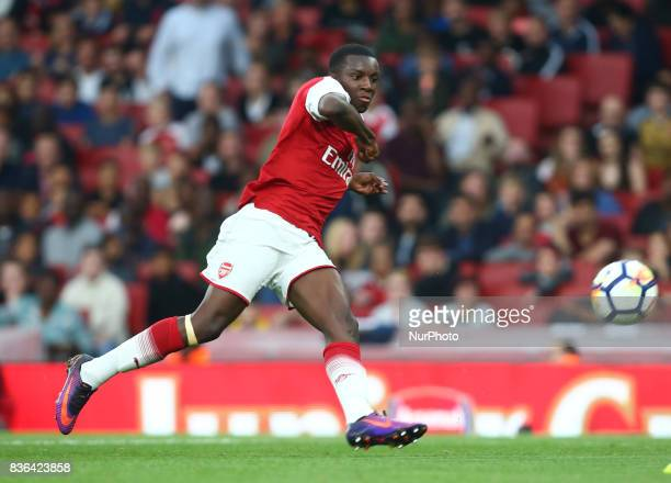 Edward Niketiah of Arsenal U23s during Premier League 2 match between Arsenal Under 23s against Manchester City Under 23s at Emirates Stadium London...