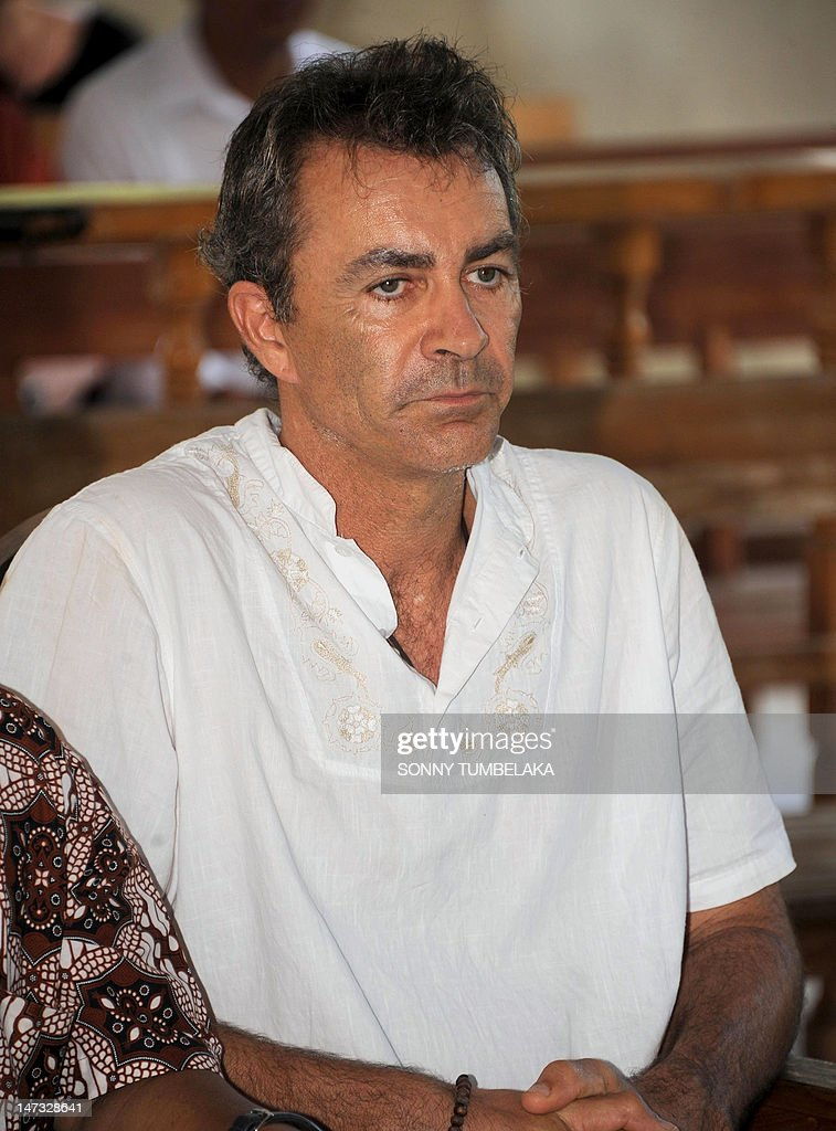 Edward Norman Myatt of Australia attends his trial at a court in Denpasar on the Indonesian resort island of Bali on June 28, 2012. Myatt, 54, was arrested on February 27 with 1.1 kilos of hashish and 7 grams of methamphetamine after attempting to smuggle them into the Indonesian resort island of Bali.