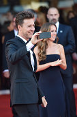 Edward Norton and Shauna Robertson attend the Opening Ceremony and 'Birdman' premiere during the 71st Venice Film Festival at Palazzo Del Cinema on...