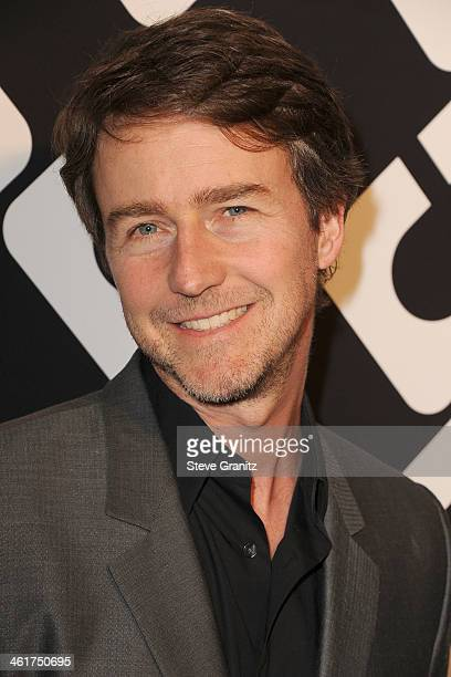 Edward Norton arrives at the Diane Von Furstenberg's 'Journey Of A Dress' Premiere Opening Party at Wilshire May Company Building on January 10 2014...