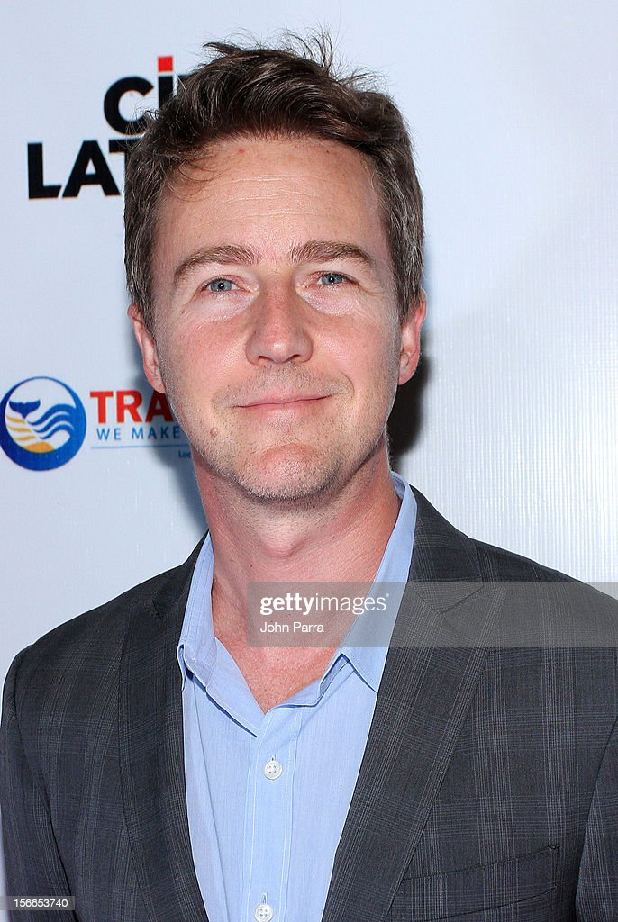 Edward Norton arrives to the Closing Night Gala for the Baja International Film Festival at Los Cabos Convention Center on November 17, 2012 in Cabo San Lucas, Mexico.