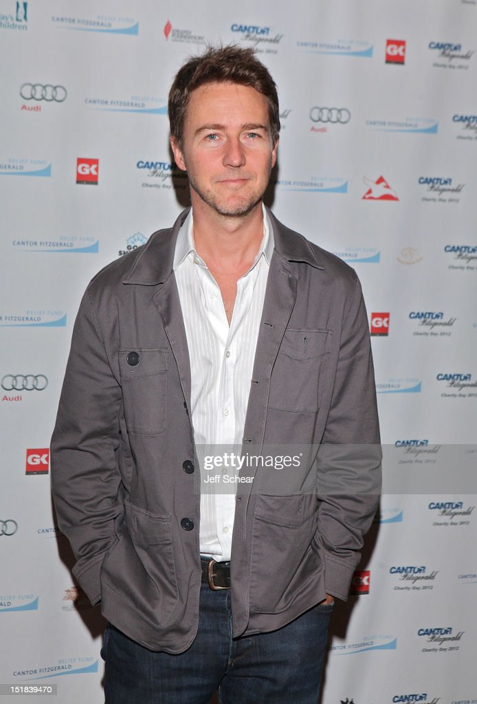 <a gi-track='captionPersonalityLinkClicked' href=/galleries/search?phrase=Edward+Norton&family=editorial&specificpeople=210580 ng-click='$event.stopPropagation()'>Edward Norton</a> attends Annual Charity Day Hosted By Cantor Fitzgerald And BGC Partners on September 11, 2012 in New York, United States.