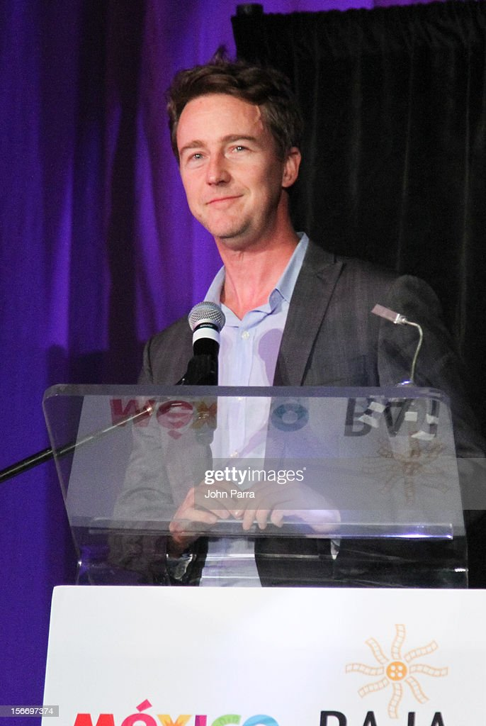 Edward Norton attends the Closing Night Gala during the Baja International Film Festival at Los Cabos Convention Center on November 17, 2012 in Cabo San Lucas, Mexico.