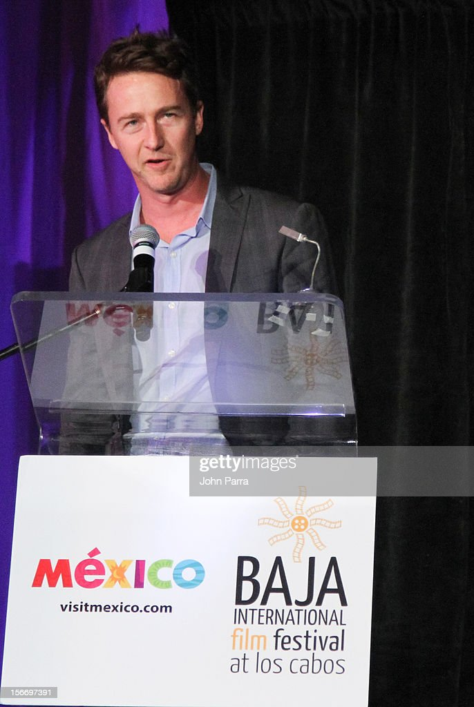 <a gi-track='captionPersonalityLinkClicked' href=/galleries/search?phrase=Edward+Norton&family=editorial&specificpeople=210580 ng-click='$event.stopPropagation()'>Edward Norton</a> attends the Closing Night Gala during the Baja International Film Festival at Los Cabos Convention Center on November 17, 2012 in Cabo San Lucas, Mexico.