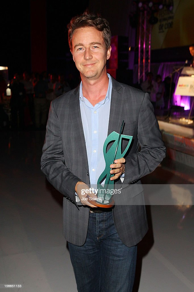 Edward Norton attends the Closing Night Gala for the Baja International Film Festival at the Los Cabos Convention Center on November 17, 2012 in Cabo San Lucas, Mexico.