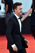 Edward Norton attends the Opening Ceremony and 'Birdman' premiere during the 71st Venice Film Festival at Palazzo Del Cinema on August 27 2014 in...