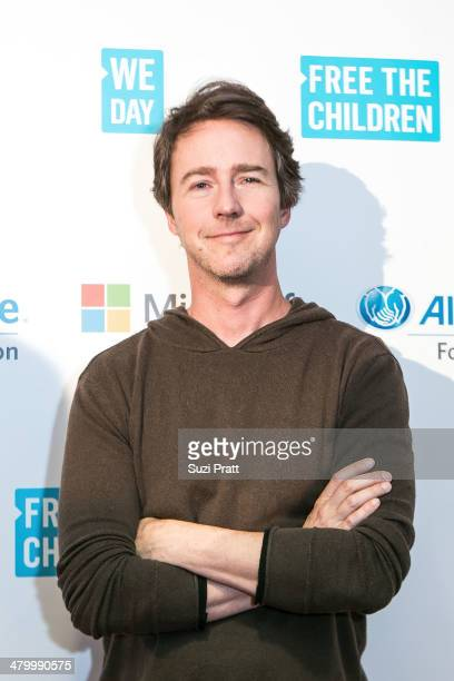 Edward Norton attends We Day at Key Arena on March 21 2014 in Seattle Washington