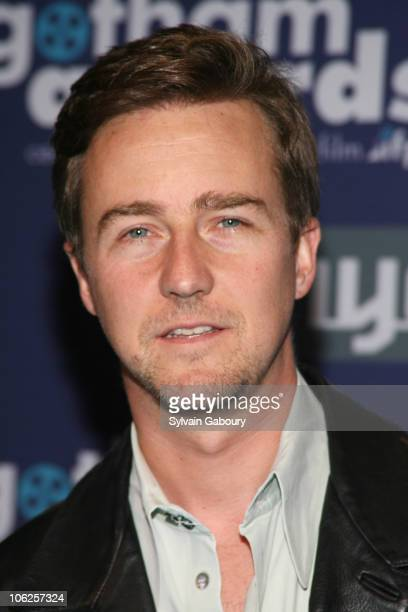 Edward Norton during 16th Annual Gotham Awards Red Carpet at Chelsea Piers at Pier 60 in New York City New York United States