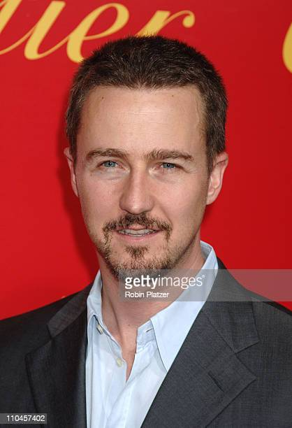 Edward Norton during Cartier and Interview Magazine Celebrate The Cartier Charity Love Bracelet at The Cartier Mansion in New York City New York...