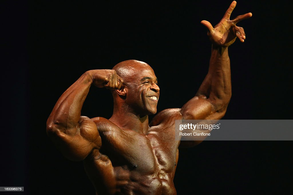 Edward Nunn of the USA poses during the IFBB Australia Pro Grand Prix XIII at The Plenary on March 9, 2013 in Melbourne, Australia.