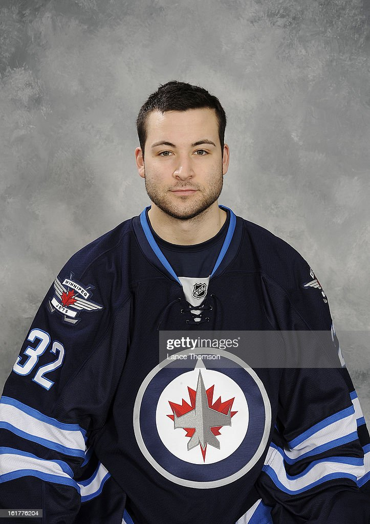 Edward Pasquale of the Winnipeg Jets poses for his official headshot for the 2012-2013 season on February 15, 2013 at the MTS Centre Winnipeg, Manitoba, Canada.