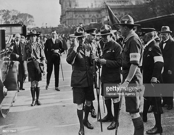 Edward Prince of Wales inspecting Sea Scouts at a Boy Scouts' Rally at Alexandra Palace London October 1922 On the prince's left is Boy Scouts...
