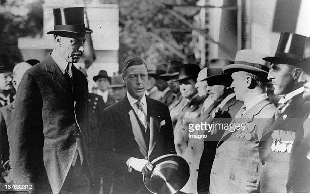 Edward Prince of Wales opens the British Trade Exhibition in Copenhagen with King Christian X of Denmark Photograph September 26th 1932 Edward Prinz...