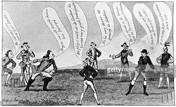 Edward Sackville 4th Duke of Dorset playing cricket 18th century From Imperial Cricket edited by P F Warner and published by The London and Counties...