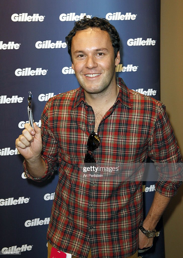 Edward Starr attends Gillette Ask Couples at Sundance to 'Kiss & Tell' if They Prefer Stubble or Smooth Shaven - Day 2 on January 19, 2013 in Park City, Utah.