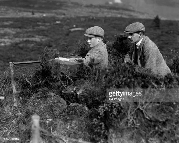 Edward The Prince of Wales attends a shoot on the Balmoral Estate