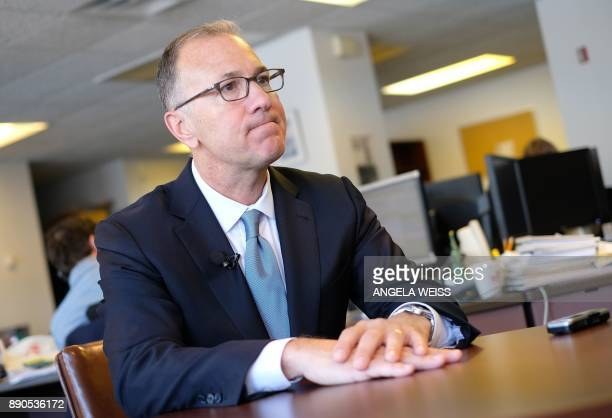 Edward Tilly Chief Executive Officer at CBOE Holdings Inc speaks with AFP in New York on December 11 about the Bitcoin futures Tilly head of the...