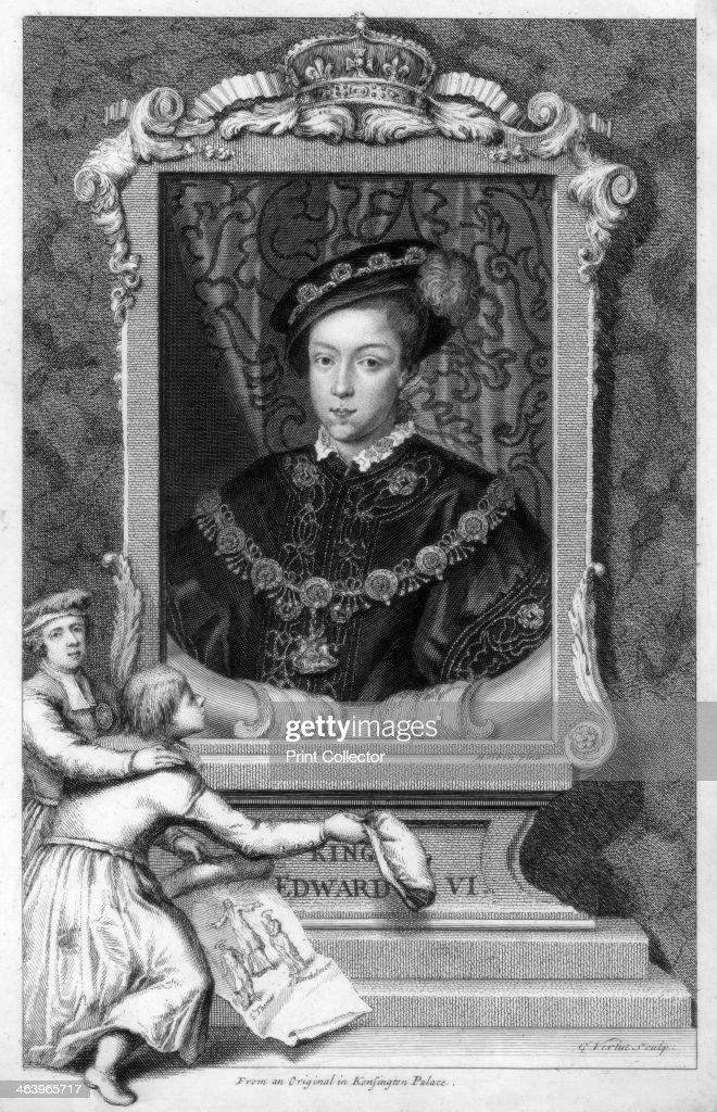 Edward VI, King of England, (18th century).Artist: George Vertue