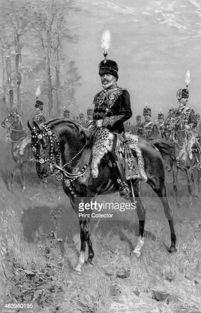 Edward VII as Colonel in Chief of the 10th Hussars 1902 Illustration from The Illustrated London News Record of The Coronation Service and Ceremony...