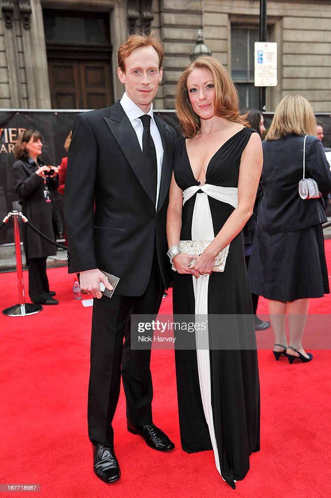 Edward Watson (L) attends The Laurence Olivier Awards at The Royal Opera House on April 28, 2013 in London, England.