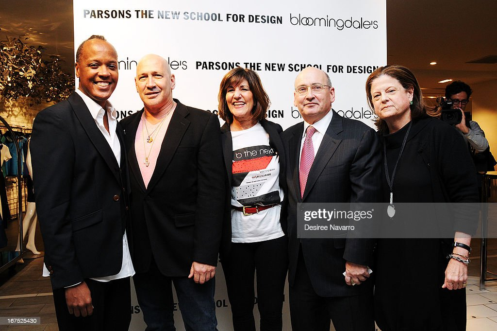 Edward Wilkerson, Carmen Marc Valvo, Kay Unger, Frank Doroff and Anne Keating attend Bloomingdale's: b the next at Bloomingdale's on April 25, 2013 in New York City.