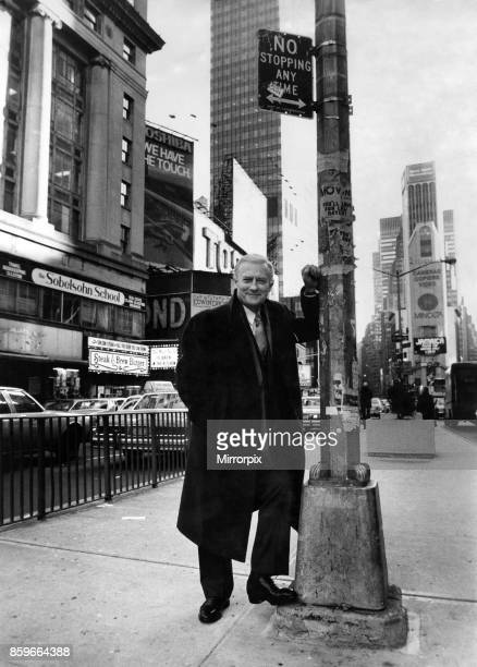 Edward Woodward actor who plays Robert McCall in american tv series The Equalizer pictured in New York City 28th February 1987