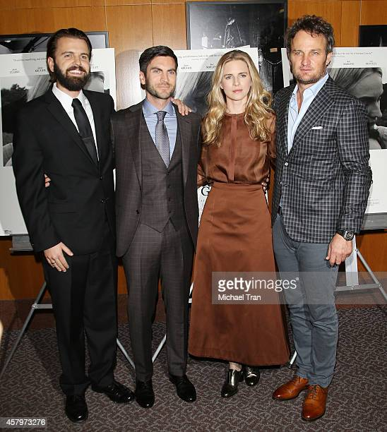 AJ Edwards Wes Bentley Brit Marling and Jason Clarke arrive at the Los Angeles Premiere of 'The Better Angels' held at DGA Theater on October 27 2014...