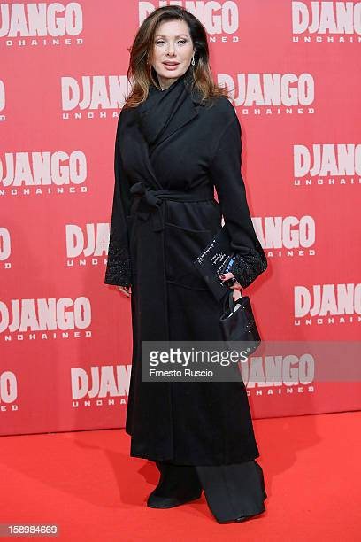 Edwige Fenech attends the 'Django Unchained' premiere at Cinema Adriano on January 4 2013 in Rome Italy