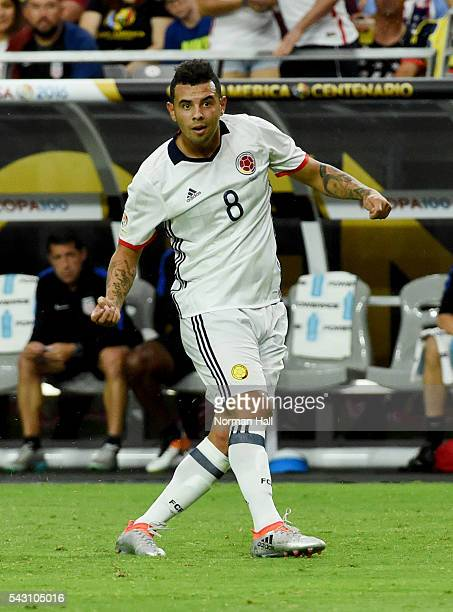 Edwin Cardona of Colombia looks on during a third place match between United States and Colombia at University of Phoenix Stadium as part of Copa...