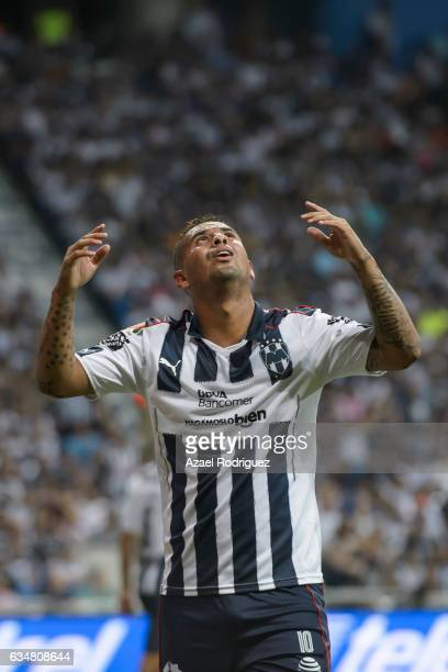 Edwin Cardona of Monterrey reacts during the 6th round match between Monterrey and Pumas UNAM as part of the Torneo Clausura 2017 Liga MX at BBVA...