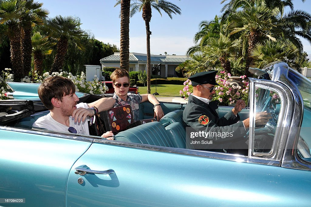 Edwin Congreave and Jack Bevan arrive at the Soho House Pop Up with Bacardi during Coachella 2013 at Merv Griffin Estate on April 19, 2013 in La Quinta, California.