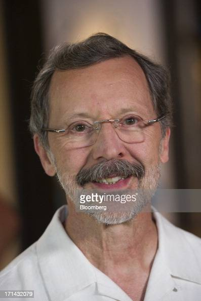 Edwin 'Ed' Catmull president of Pixar sits for a photograph after a Bloomberg West television interview at the Pixar Animation Studios headquarters...