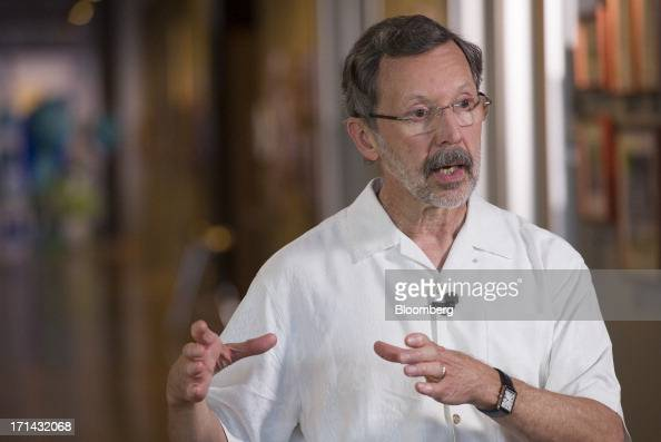 Edwin 'Ed' Catmull president of Pixar speaks during a Bloomberg West television interview at the Pixar Animation Studios headquarters in Emeryville...