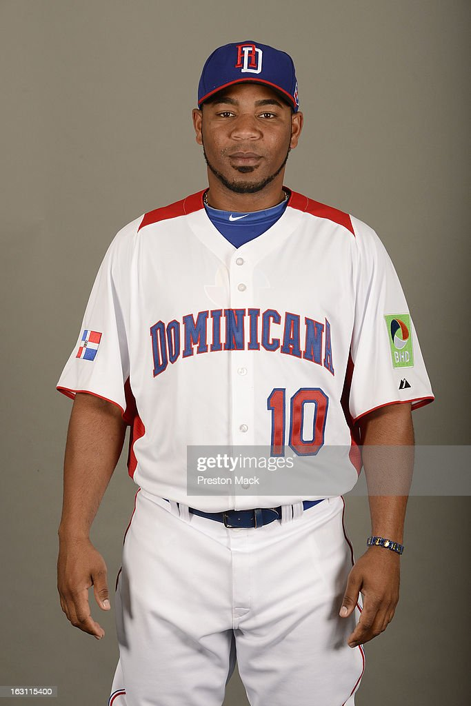 <a gi-track='captionPersonalityLinkClicked' href=/galleries/search?phrase=Edwin+Encarnacion&family=editorial&specificpeople=598285 ng-click='$event.stopPropagation()'>Edwin Encarnacion</a> #10 of Team Dominican Republic poses for a headshot for the 2013 World Baseball Classic on March 4, 2013 at George M. Steinbrenner Field in Tampa, Florida.