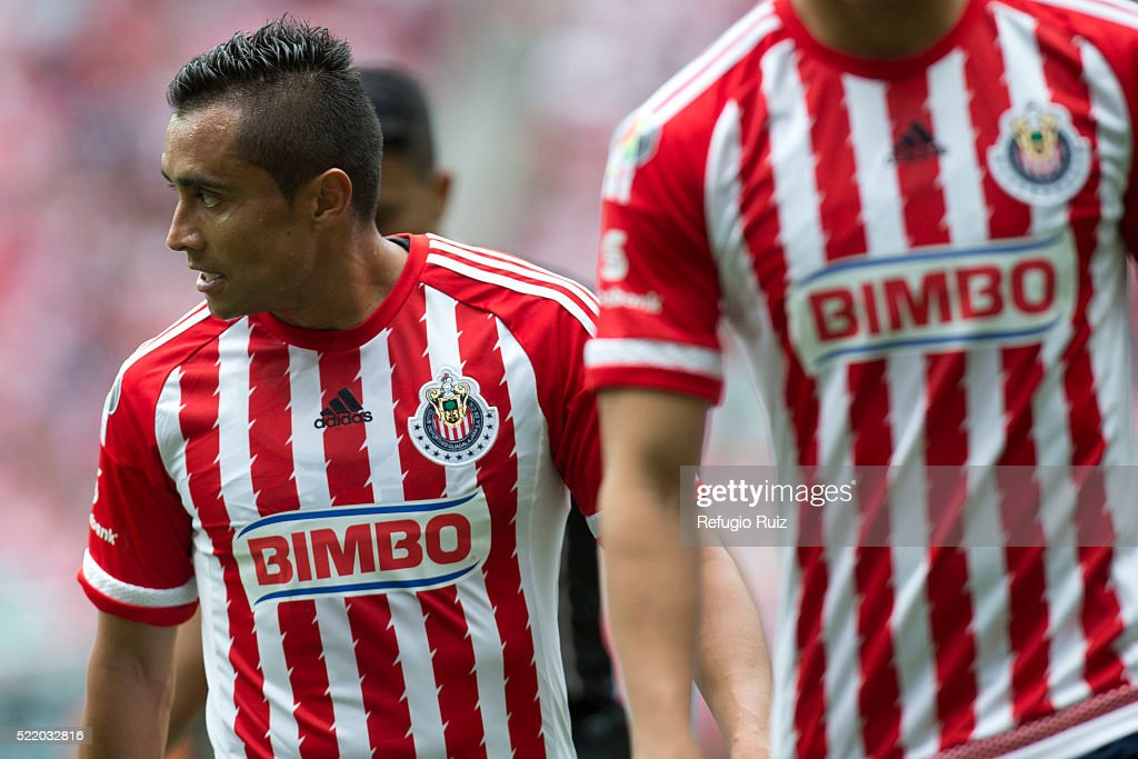 Edwin Hernandez of Chivas looks on during the 14th round match between Chivas and Atlas as part of the Clausura 2016 Liga MX at Chivas Stadium on April 17, 2016 in Zapopan, Mexico.
