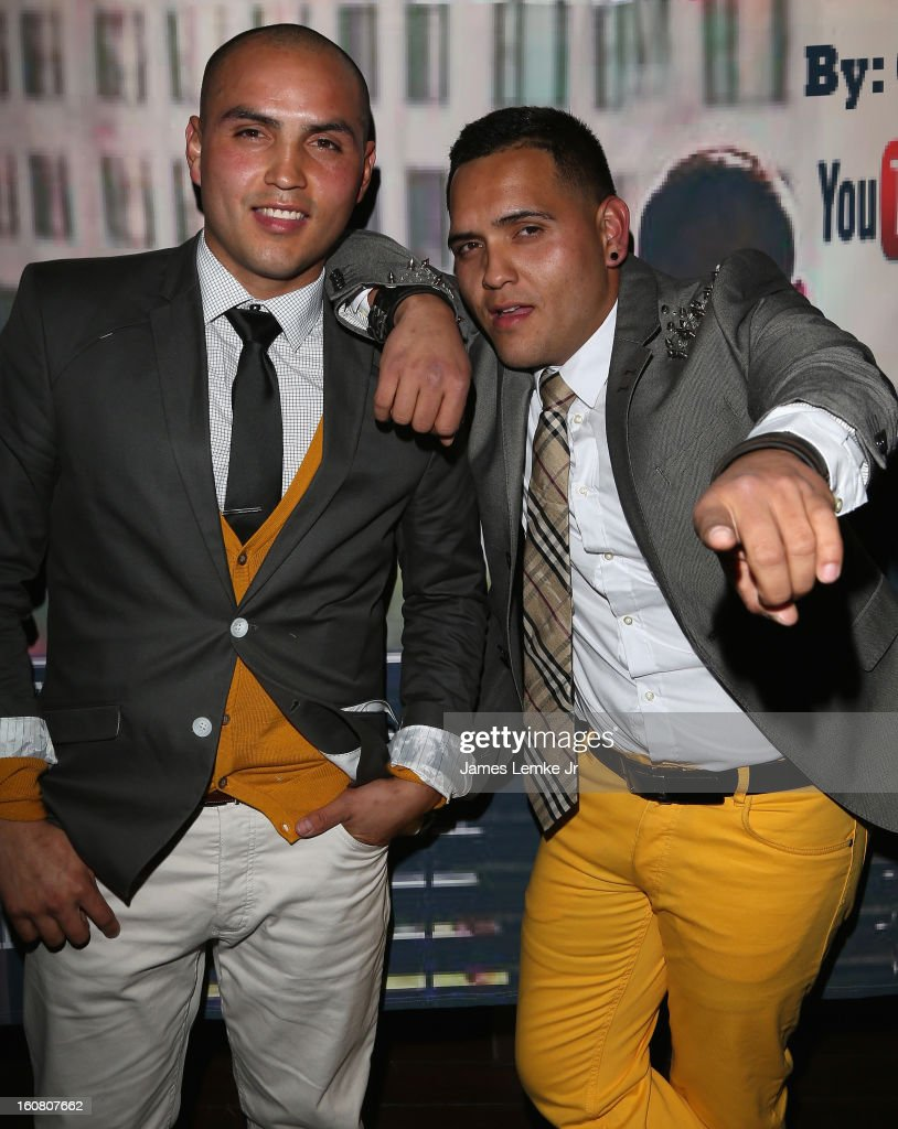 Edwin Heyes and Chris Rockstar attend Chris Rockstar's 'I Guess I'm Trying To Say' Music Video Release Party held at the W Hollywood on February 5, 2013 in Hollywood, California.
